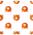 flat cartoon fox heads seamless pattern vector image vector image