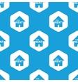For rent hexagon pattern vector image vector image