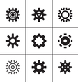 Gears and cogwheel icons set vector image vector image