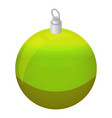 green xmas tree ball icon isometric style vector image