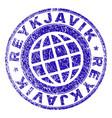 grunge textured reykjavik stamp seal vector image vector image