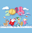 happy new 2018 year card vector image vector image