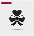 heart with bow icon simple love valentine sign vector image vector image