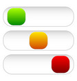 horizontal power button sliders in 3 states vector image vector image
