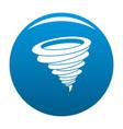 hurricane icon blue vector image