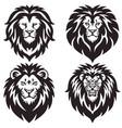 lion logo set collection premium design vector image vector image