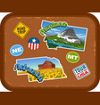 montana nebraska travel stickers vector image vector image