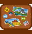 montana nebraska travel stickers vector image vector image