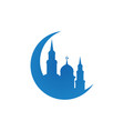 mosque silhouette logo icon design template vector image