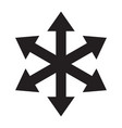 multiple arrow six way direction icon vector image