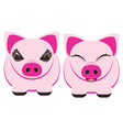pig cartoon character vector image vector image