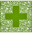 Plus sign eco background vector image