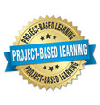 project-based learning round isolated gold badge