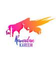 ramadan kareem design with colorful paint splash vector image vector image