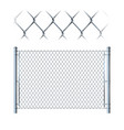 realistic metal chain link fence metal mesh on vector image