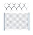realistic metal chain link fence metal mesh vector image vector image