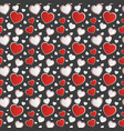 red and white heart on dark gray background vector image vector image