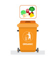 rubbish container for organic waste icon recycle vector image