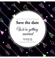 Save the date wedding invitation vector image vector image