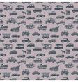 seamless car pattern vector image vector image