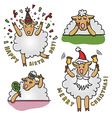 Set of funny sheep characters vector image vector image