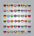 set of round glossy flags of all sovereign vector image vector image
