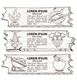 set of three banners subsistence farming eco vector image vector image