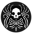 skeleton round icon vector image vector image
