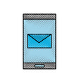 smartphone email online app message chat icon vector image vector image