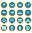 sri lanka travel icons blue circle set vector image vector image