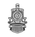 steam locomotive sketch vector image vector image