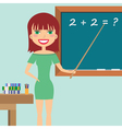 Teacher in the classroom vector image