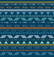 tribal blue seamless repeat pattern vector image vector image