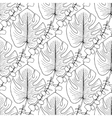 Tropical leaves pattern seamless vector image vector image