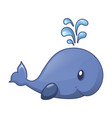 whale kid icon cartoon style vector image