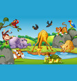 wild animal in forest vector image vector image