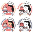 woman confectioner with cake vector image