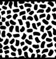 seamless trendy modern brush spot pattern vector image