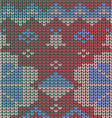 knitted-pattern-geometric background vector image