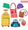 luggage set vector image