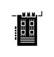 sound card icon black sign vector image