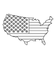 American map icon outline style vector image vector image