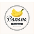 banana juice Detailed label vector image