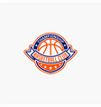 basketball club badge logo-8 vector image