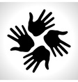 Black Hand Print icon vector image vector image