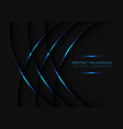 blue metallic curve line weave on dark grey vector image
