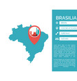 brasilia map infographic vector image vector image