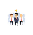 business idea team leader thinking man with idea vector image vector image