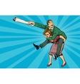 Business people man riding on woman attack vector image vector image