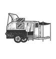 caravan camper trailer sketch vector image